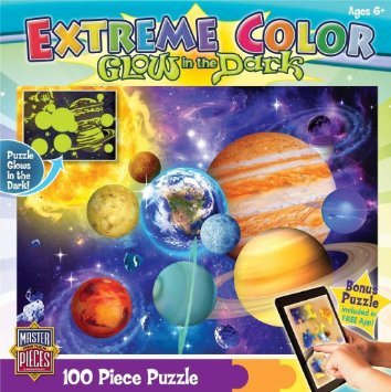 MasterPieces Puzzle Company Extreme Color Glow-In-The-Dark Dinosaurs Jigsaw Puzzle