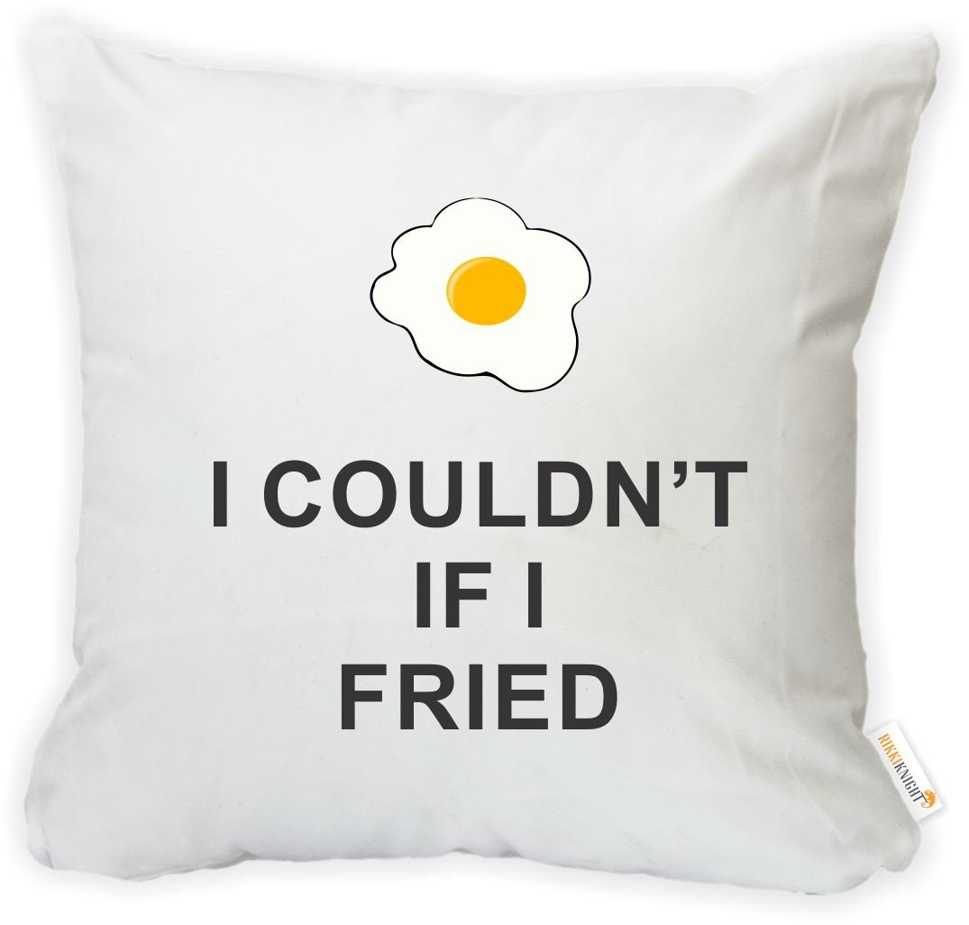 Insert Included Rikki Knight 16 x 16 inch Rikki KnightI Couldnt If I Fried Microfiber Throw Pillow Cushion Square with Hidden Zipper Printed in The USA
