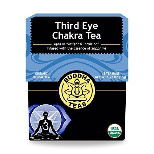 Organic Third Eye Chakra Tea - Kosher, Caffeine Free, GMO-Free - 18 (Eye Tea)