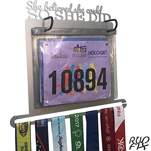 Race Bib and Medal Display -