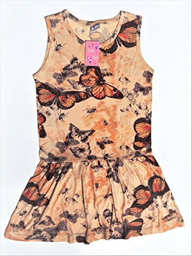 Candy Floss Sleeveless Little Girls Jersey Dress (3T, Brown and Beige135) for $<!--$9.99-->