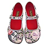 Hot Chocolate Design Chocolaticas Flora La Muerte Women's Mary Jane Flat Multicoloured US Size: 7