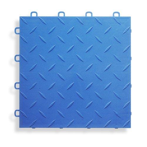 BlockTile B1US4527 Garage Flooring Interlocking Tiles Diamond Top Pack,  Royal Blue, 27-Pack by BlockTile