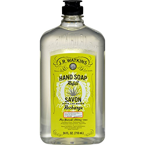 J.R. Watkins Aloe and Green Tea Liquid Hand Soap Refill, 24