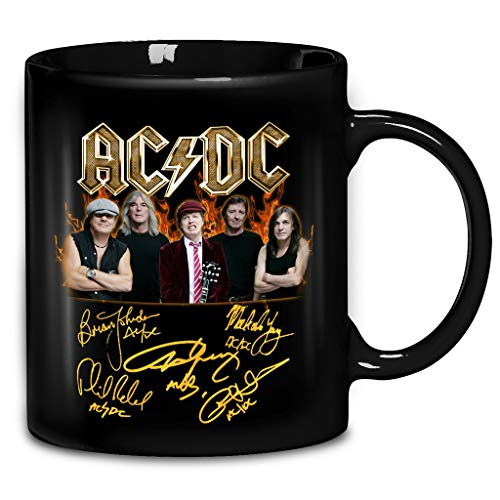 ACDC 70s Hard Rock Music Band Signs Coffee Mug 11oz & 15oz Gift Black Tea Cups -