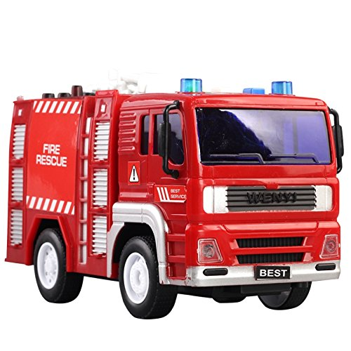 WENYI Water Tank Truck Friction Powered Toy car for boys With Lights and Sounds 1:20 (Classic Trucks Old Chevy)