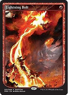 Textless Player Rewards  Foil  MTG  Lightning Bolt  Magic  Promo