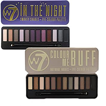 get new online for sale official images W7 Colour Me Buff Natural Nudes And In The Night Eye Shadow Palette Set