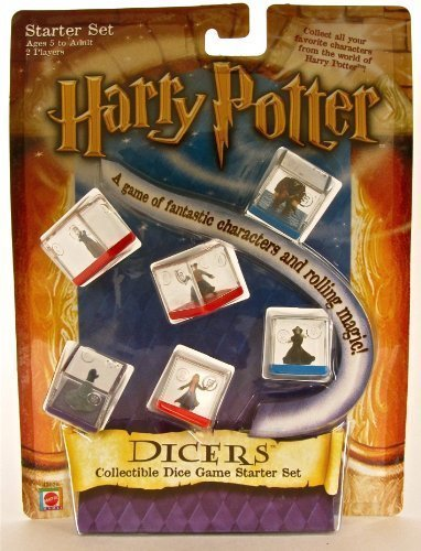 [Harry Potter Dicer Starter Set of 6 Dice: Harry Potter, Hermione Granger, Draco Malfoy, Severus Snape, Rubeus Hagrid, and the Sorting] (Sorting Hat From Harry Potter)