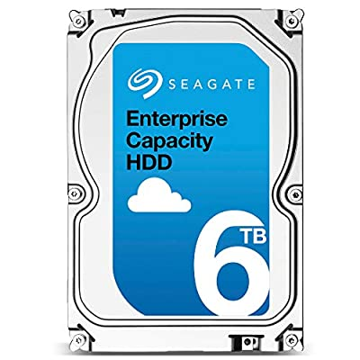 Seagate Enterprise Capacity 6TB | SAS Interface for Servers | ST6000NM0285 | 7.2K 12Gb/s 256MB Cache 3.5in 512e | Secure SED-FIPS Model | Enterprise Internal Hard Drive HDD (Renewed)