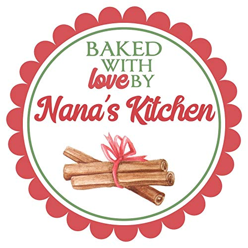 amazon com 72 christmas kitchen labels baked with love stickers