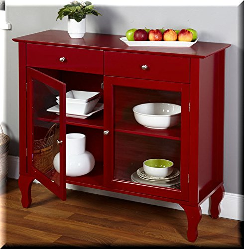 Layla Red Buffet. This Furniture Buffet with it's unique Queen Ann legs is the perfect addition to any dining area or kitchen (Table Target Red Console)