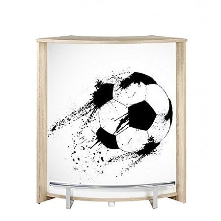 SIMMOB Mueble Comptoir de Bar Roble 96 cm - Color - Balón Fútbol ...