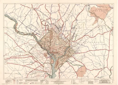 Map of Washington, D.C., and vicinity transportation District of Columbia|Washington|Washington Metropolitan Area|Washington|Washington D.C.|Washington Metropolitan Area|District of Columbia|Roads|Tra