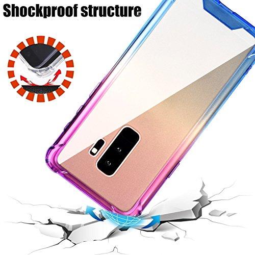f0b525a9b5 BAISRKE Galaxy S9 Plus Case, Blue Purple Gradient Shock - Import It All