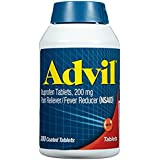 Advil Pain Reliever/Fever Reducer, 200mg Ibuprofen pos3re Pack of 1Pack (360 ct Each )