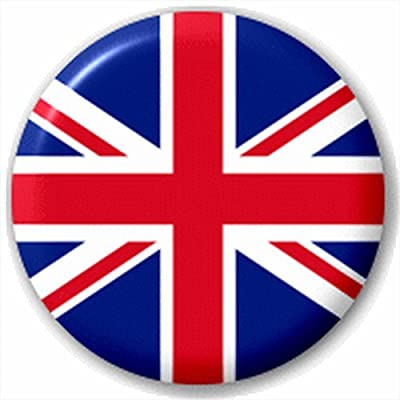 (D Pin) 25mm Lapel Pin Button Badge: Union Jack Flag by Button Badges