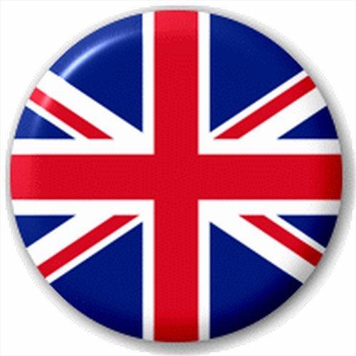 (D Pin) 25mm Lapel Pin Button Badge: Union Jack Flag by Button Badges (L)*I26- 503