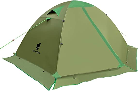 GEERTOP Backpacking Tent for 2 Person 4 Season Camping Tent Double Layer Waterproof for Outdoor Hunting