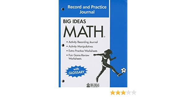 BIG IDEAS MATH: Common Core Record and Practice Journal Blue: HOLT ...
