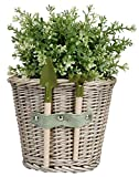 Esschert Design Wicker Flower Pot with Tools, Medium
