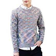 MEbox Men's Casual Comfort Assorted Color Knitwear Pullover Sweater