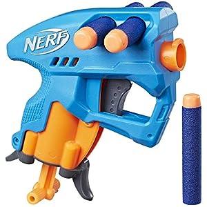 Nerf NanoFire Blaster, Blue Single-Shot...