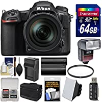 Nikon D500 Wi-Fi 4K Digital SLR Camera & 16-80mm VR Lens with 64GB Card + Case + Flash + Battery & Charger + Filter + Kit