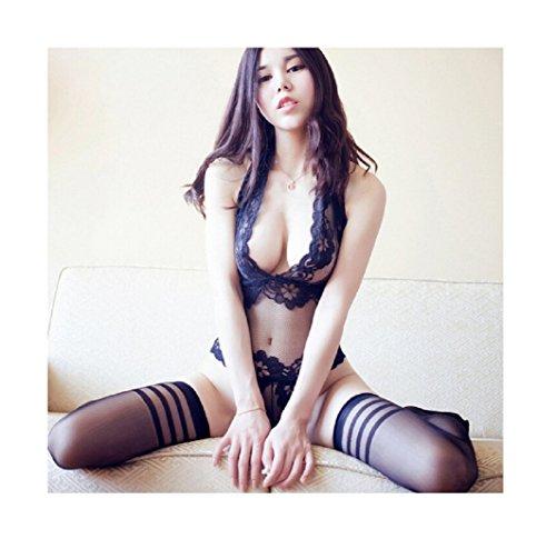 2017 Women Sexy Costumes Erotic Lingerie Sleepwear Set Sex Dolls (Black) (Belly Dance Costumes Clearance)