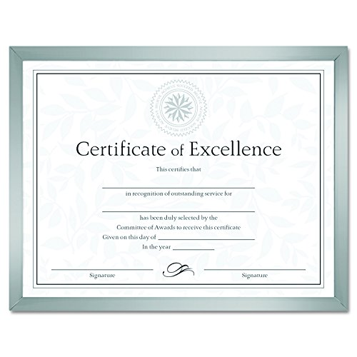 DAX N17002N Value U-Channel Document Frame with Certificates, 8-1/2 x 11 Inches, Silver ()