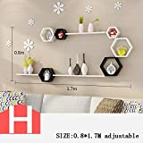 HOMEE Wall Creative Lattice Rack Tv Wall Decoration Living Room Wall Shelf Partition Wall Wall Decoration (Multiple Styles Available),H