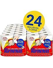 Renova Renova UltraPower keukenrollen, 24 rollen XXL komt overeen met 60 standaard rollen, 3-laags, absorberend, met optimale sterkte, FSC-gecertificeerd papier