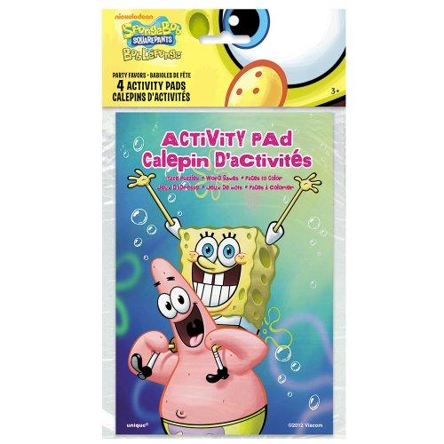 SpongeBob SquarePants Activity Book Party Favors, 4ct