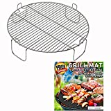3 inch Stainless Steel Grill Rack Compatible with NuWave Oven PRO PLUS and ELITE Models | Reversible 1 inch Grate Accessory for Cooking or Cooling in Kitchen Infrared Convection Ovens | by INFRAOVENS
