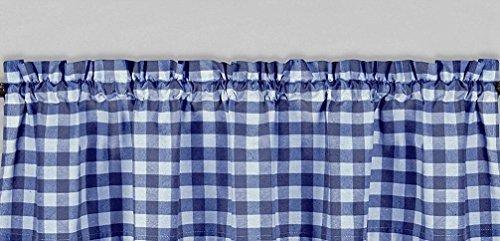 luvfabrics Polyester Gingham Checkered Plaid Design Kitchen Curtain Valance Window Treatment 58