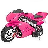 XtremepowerUS Gas Pocket Bike Motorcycle 40cc 4-Stroke Engine (Pink)