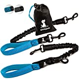 good dog bad dog leash - 3 in 1 Short Dog Leash - Shock-Absorbing Bungee with Padded Handle that Can Be Used as Elastic Attachment for Your Regular Leash, Control Handle, or Traffic Leash – Suitable for Medium and Large Dogs