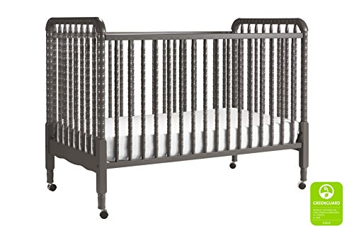 DaVinci Jenny Lind 3-in-1 Convertible Portable Crib in Slate – 4 Adjustable Mattress Positions, Greenguard Gold
