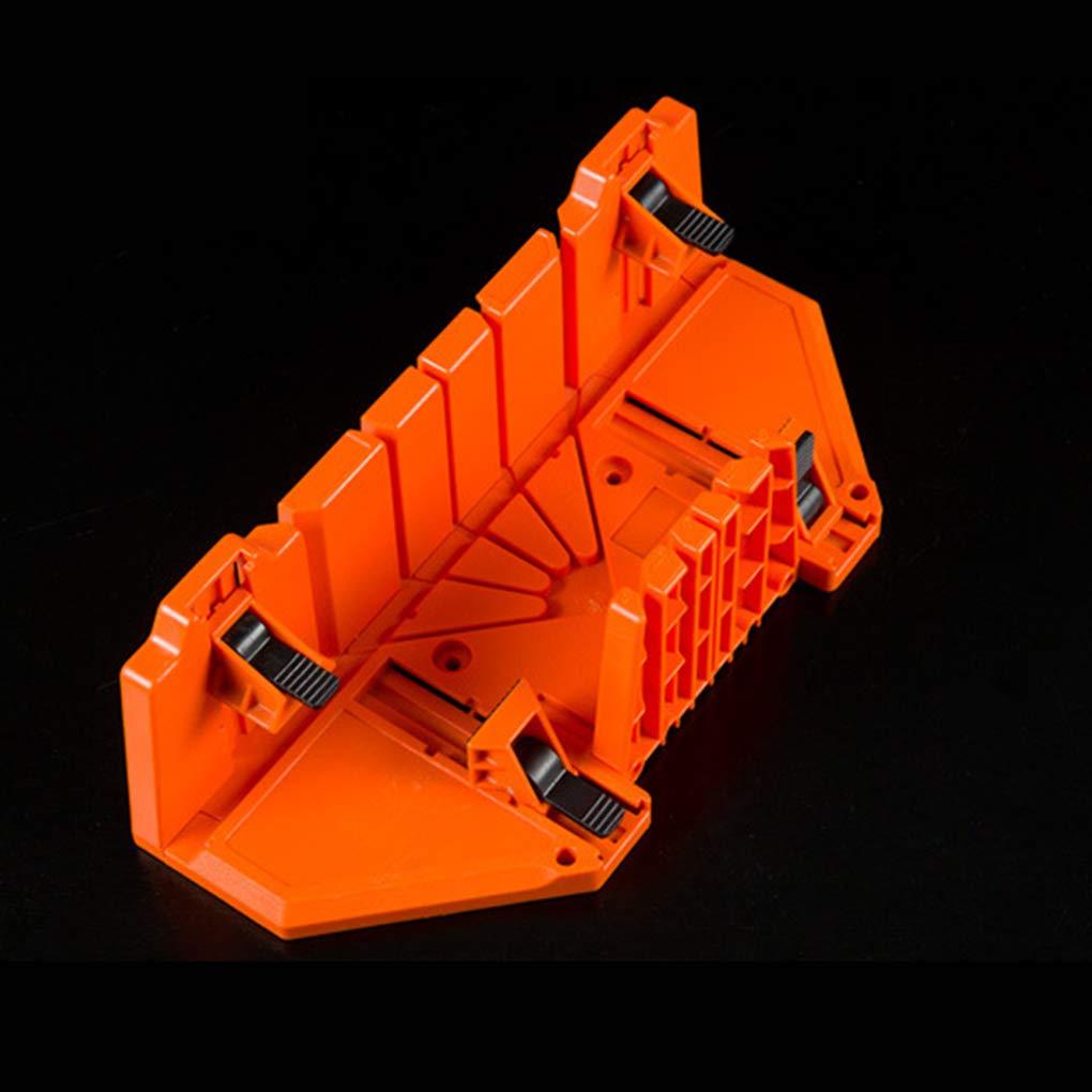 Timlatte Serrage Scie /à onglets Bo/îte 14 pouces en plastique bois double face dents 90 /° 45 /° Angle Types de fente de scie Bo/îte
