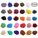 Arts & Crafts : Mica Powder for Bath Bombs [0.1 oz 29 Bags], Cosmetic Grade Soap Making Colorant Pigments for Candle Making, Blush, Eye Shadow, Craft Projects, Nail Art, Resin Jewelry, Blush, Craft Projects