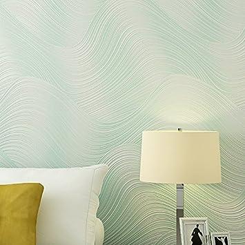 Huangyahui Tapete, Modern Minimalist, 3D, Dreidimensionale Wellen,  Streifen, Vlies Stoffe,