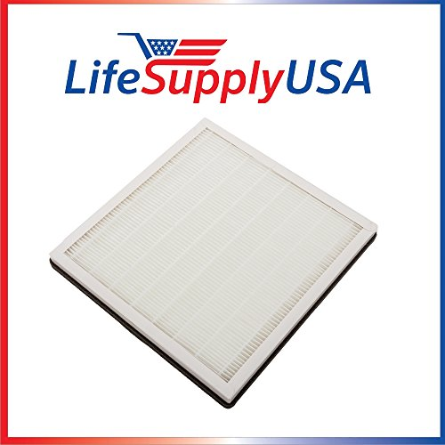 LifeSupplyUSA Replacement 3-in-1 True HEPA Filter with Activated Carbon & Pre Filter fits PureZone Air Purifier