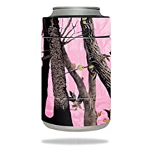 MightySkins Protective Vinyl Skin Decal for YETI Rambler Colster wrap cover sticker skins Pink Tree Camo