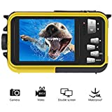 Underwater Camcorder Waterproof Camera Full HD 1080P for Snorkelling Waterproof Point and Shoot Digital Camera Dual Screen Action Camera