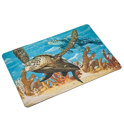 - The Diving Pair-Big Sea Turtles Rubber Doormat Entrance Rug Indoor/Outdoor Door Shoe Scraper Entryway,Garage and Laundry Room Floor Mat