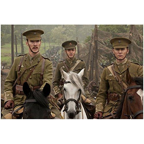 Munich 8x10 Photo (War Horse Benedict Cumberbatch as Maj. Jamie Stewart, Tom Hiddleston as Capt. Nicholls and Fellow Soldier on Horseback 8 x 10 inch photo)