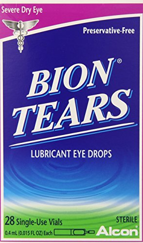 Bion Tears Lubricant Eye Drops-0.015 oz, 28 ct Single Use Vials, 2 pk ()