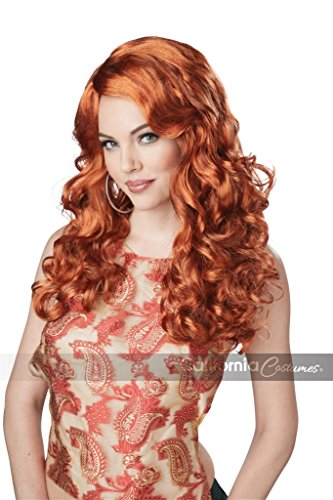Cheap Halloween Costumes 2016 (California Costumes Women's Shockwaves Wig, Auburn, One Size)