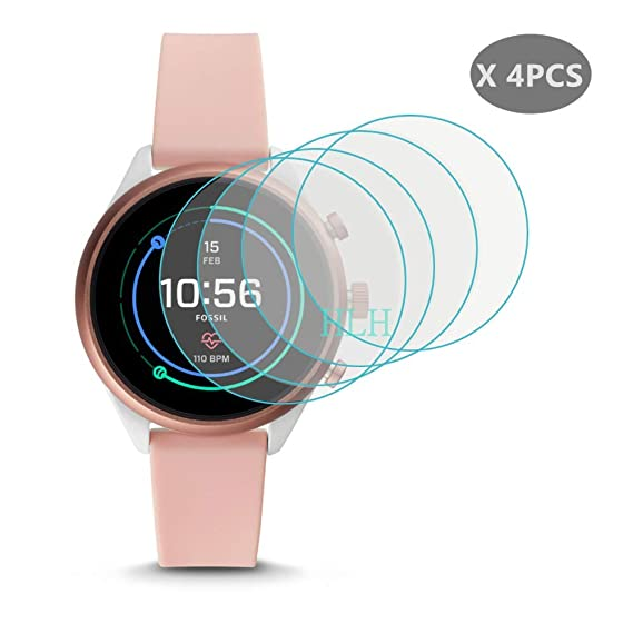 [ 4-PCS ] for Fossil Sport Screen Protector, HLH 9H Hardness Anti-Scratch Tempered Glass Screen Protector for Fossil Gen 4 Sport 41mm Smartwatch ...