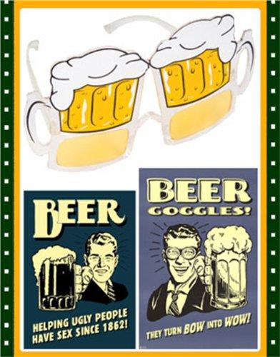 St. Patrick's Day Beer Mug Glasses Costume Sunglasses